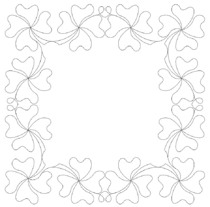 4 Leaf Clover Border and Corner-L04098*