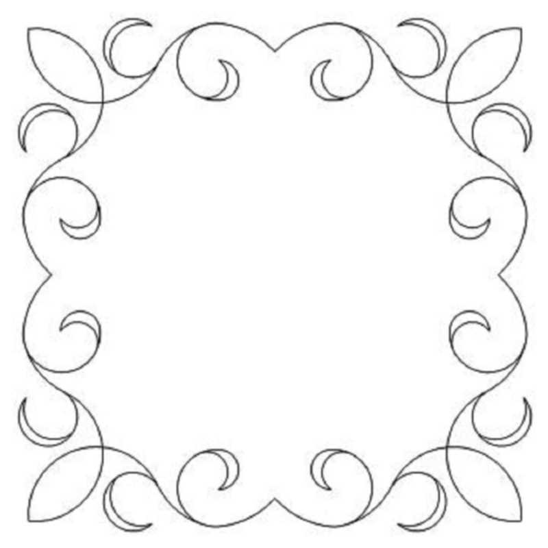 4 Point Flower Frame-L01636