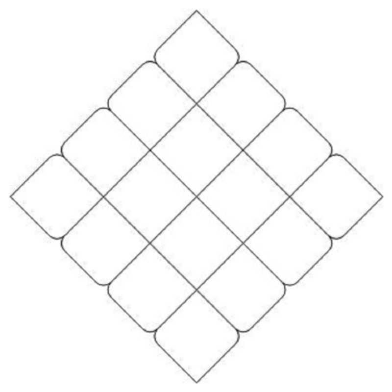 4x4 Crosshatch Diamond-L01639*