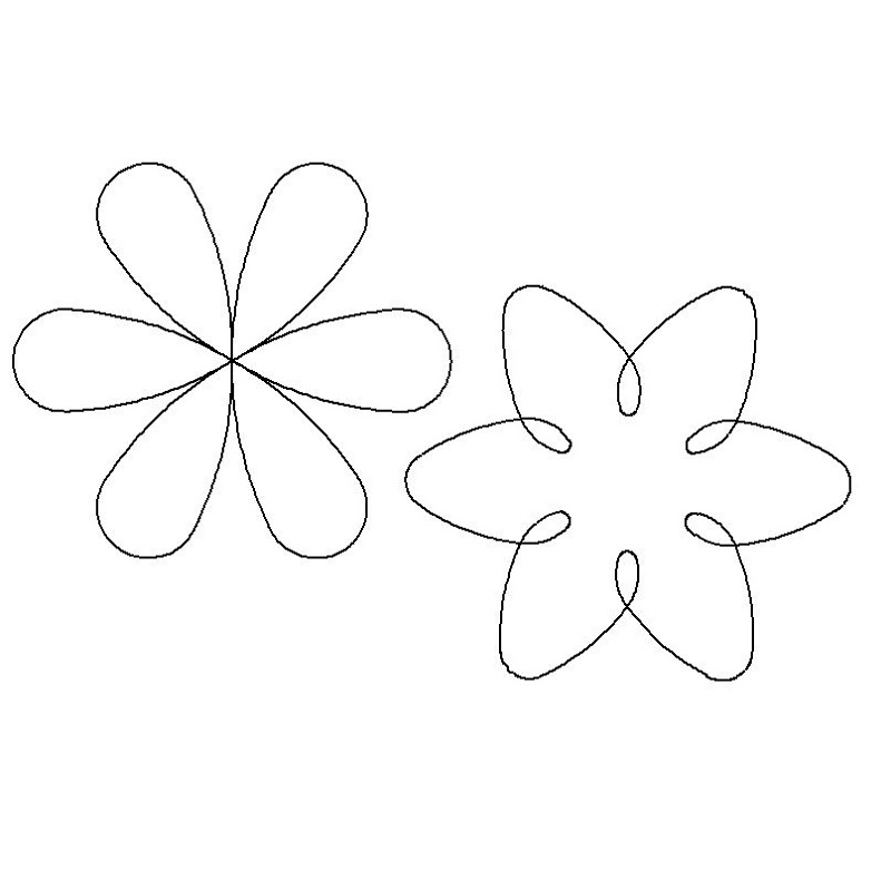 6 Point or Petal Flowers-L01667