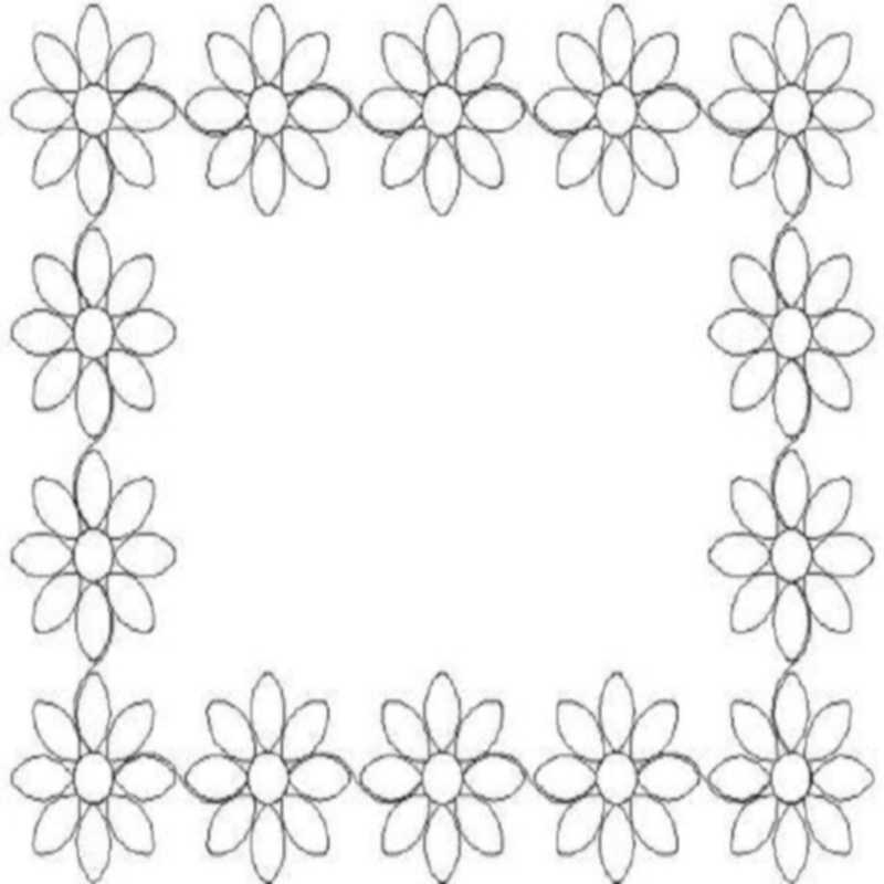 8 petal flower_border and corner-L00971