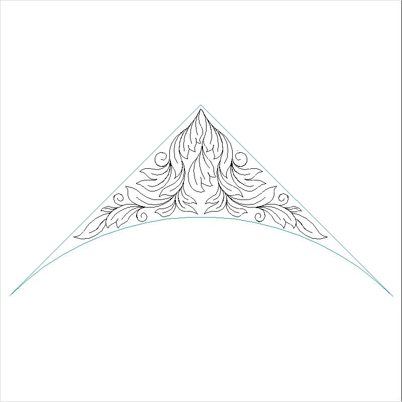 Acanthus Bella Arched Triangle-L01581*