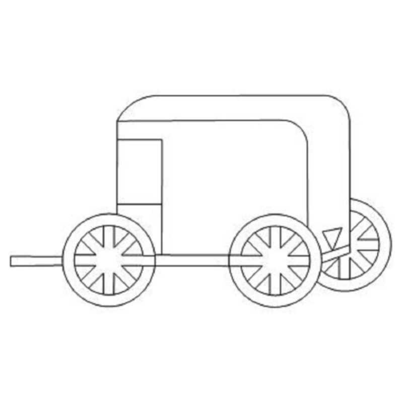 Amish Wagon-L00969