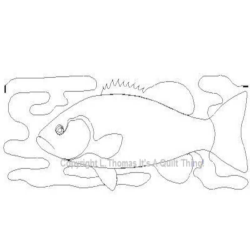 Bass Fish_Border-L01023