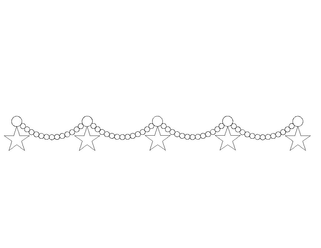 Beaded Garland With Stars 00201dc