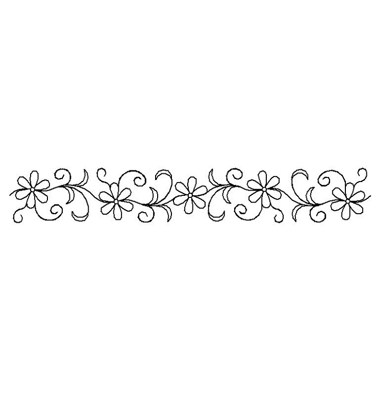 Bonnies Flower Sash-L02420*