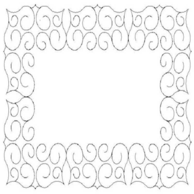 Cactus Wreath Border and Corner-L02173*