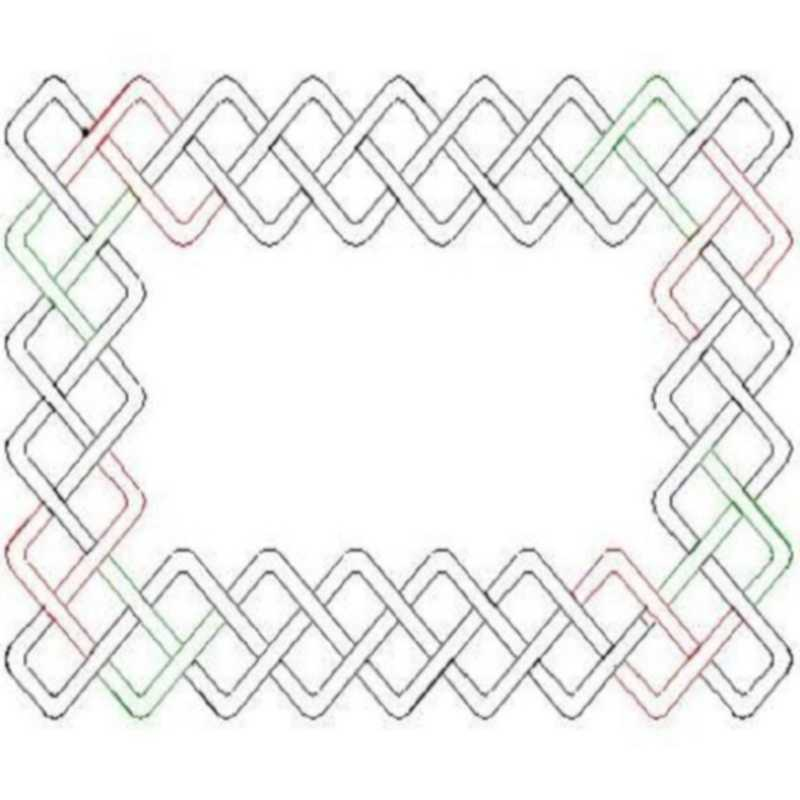 Cheryls Celtic Chain Border and Corner-L02033*