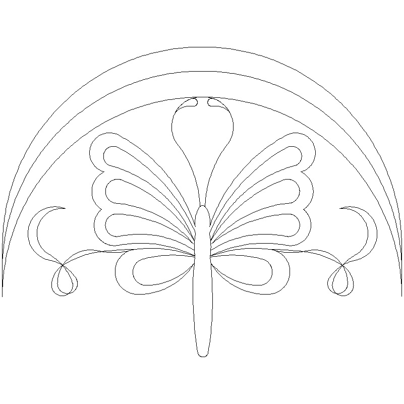 Clamshell Butterfly-L00571 - Click Image to Close