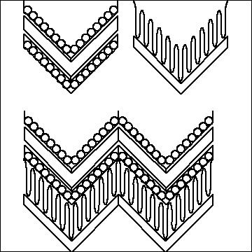 Coils and Lines & Circles and Lines Chevron Small Set-L01730*