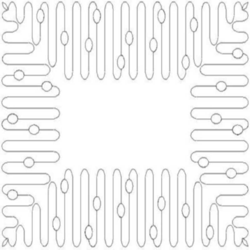 Coils and Ovals Border and Corner-L01902*
