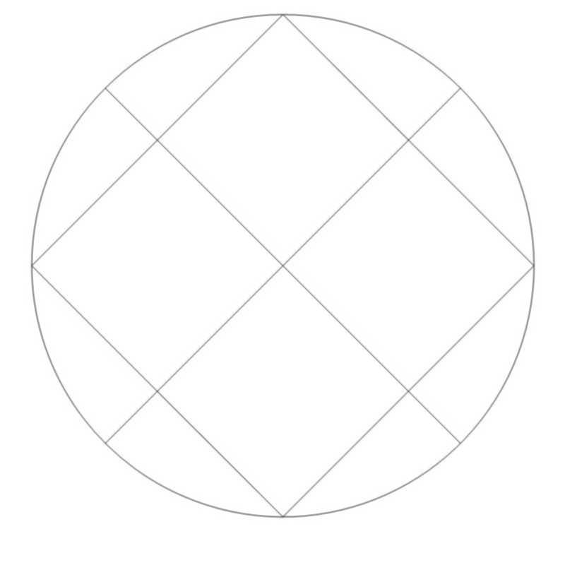 Crosshatched Circle-L03619*