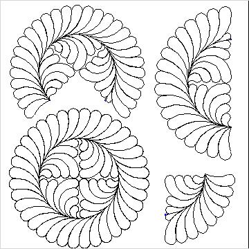 Debs Feather Wreath Set-L04535*