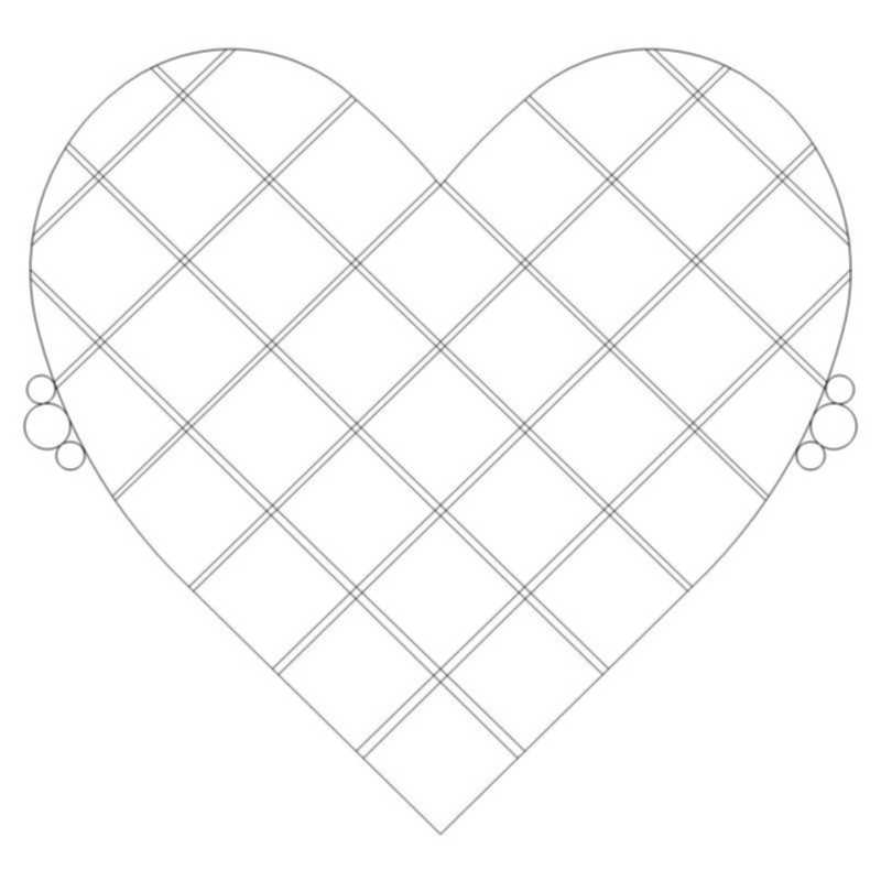 Double Crosshatched Heart-L03889*