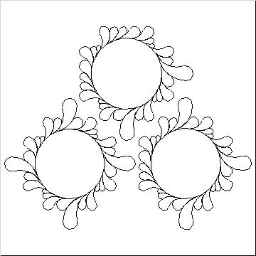 Double Irish Chain Feather Wreath-L04553*