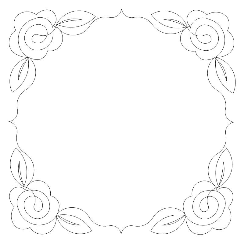 Embroidery Rose 1 Frame-L04071*