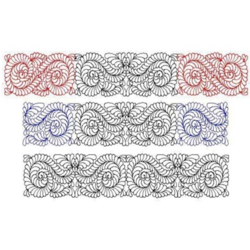 Feather Cotillion border set-L00641