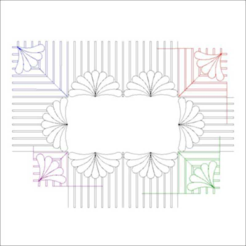 Feather Swag with Piano Keys_border and corners-L00701