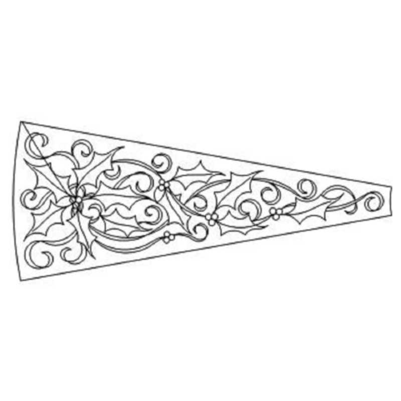 Holly and Ribbon Tree Skirt Blade & Outline-L02299*