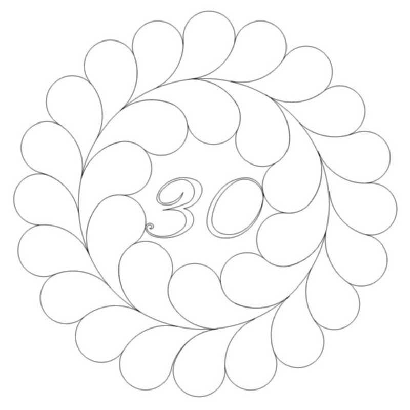 Irish Chain Anniversary Feather Wreath 30-L03412*