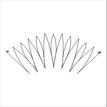 Judys Twinkle Star Narrow Feather Points-L04419*
