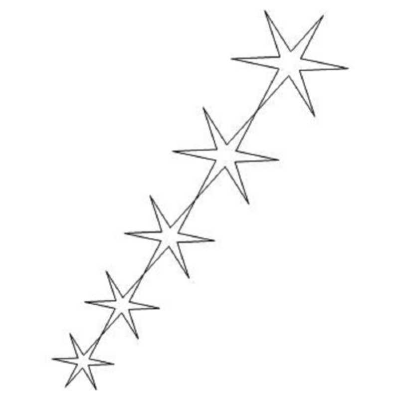 Judys Weathered Windmill End Stars-L02230*