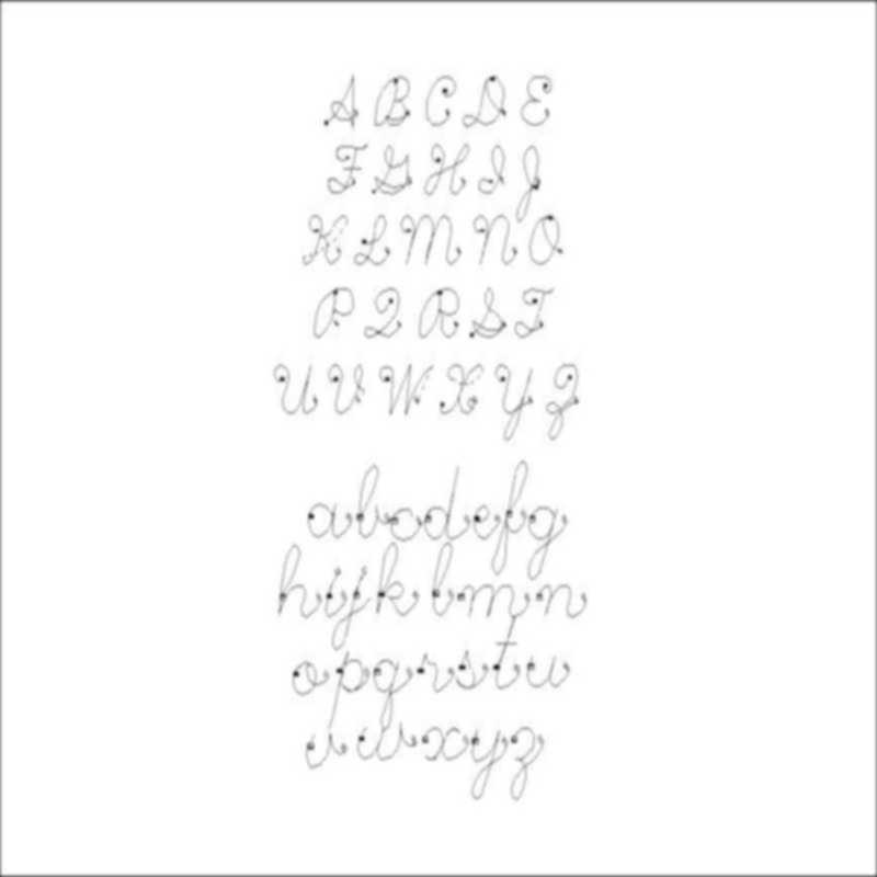 Single line Cursive alphabet-L00784