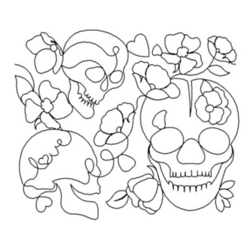 Skulls and Blossoms-L01025