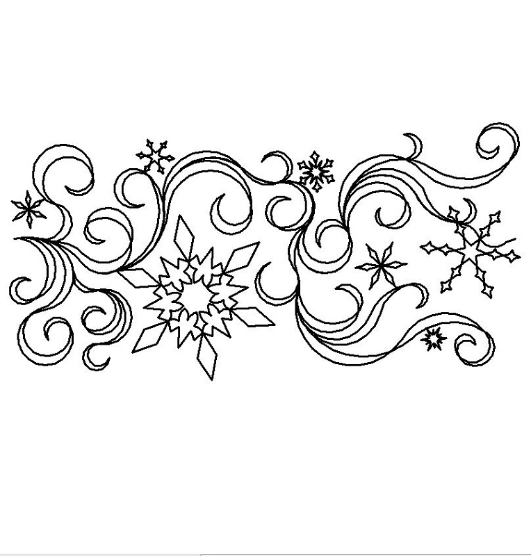 Snowflakes and Ribbons-L00809
