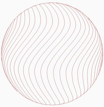 Sphere_Crosshatch Wave Vertical Lines w Outside Circle 00041dc *