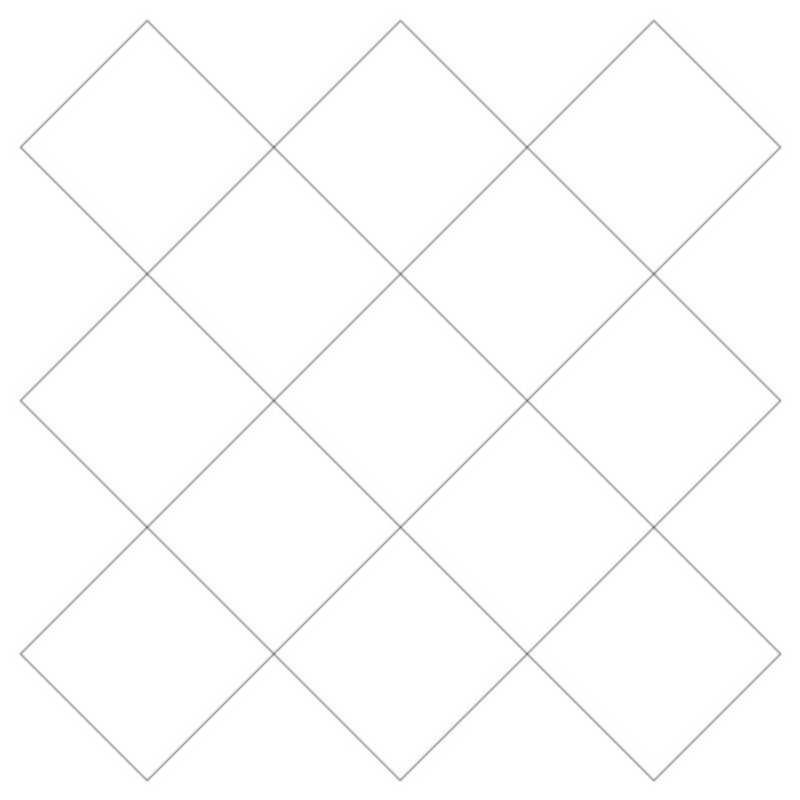Crosshatch Square 3-L03626*