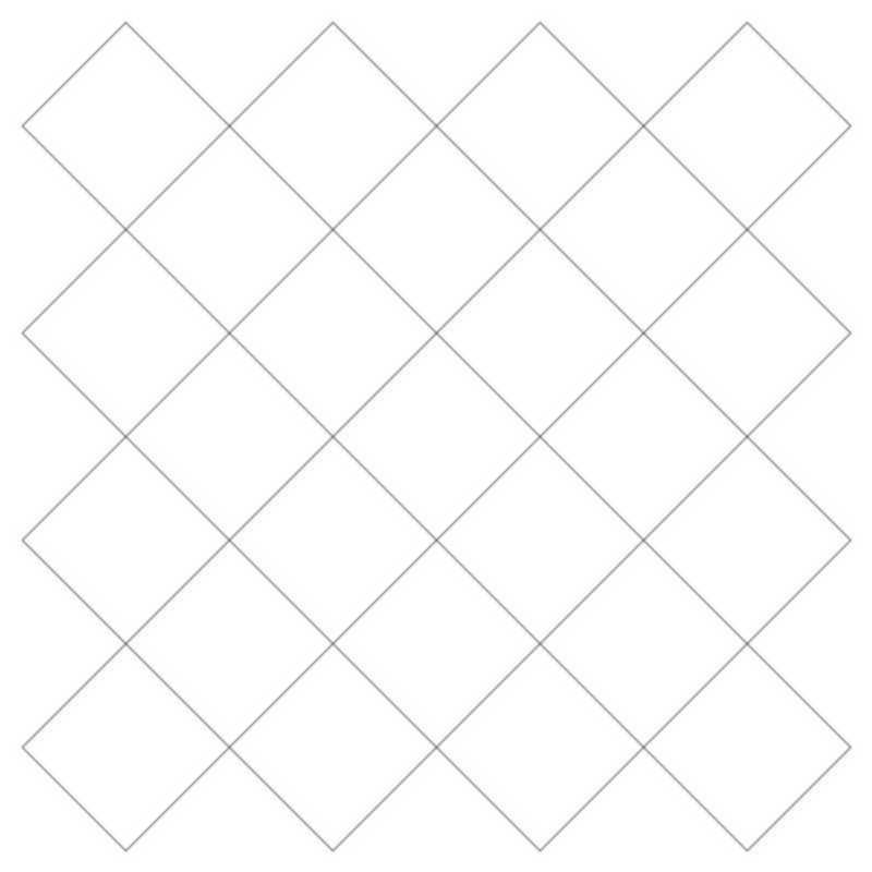 Crosshatch Square 4-L03625*