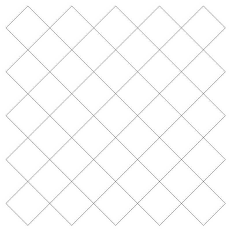 Crosshatch Square 5-L03624*
